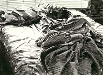 Unmade Bed Drawing